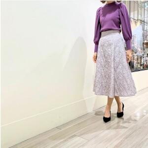 オリジナル生地の贅沢スカート