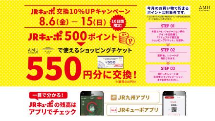JRキューポ ポイント交換10%UPキャンペーン